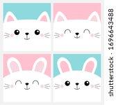 pet baby print for notebook... | Shutterstock .eps vector #1696643488