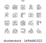 quarantine well crafted pixel... | Shutterstock .eps vector #1696681522