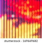 christmas blurred lights... | Shutterstock . vector #169669682