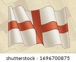 vintage flag of england.... | Shutterstock .eps vector #1696700875