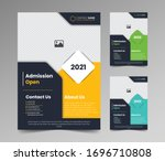 admission open flyer template... | Shutterstock .eps vector #1696710808