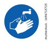 wash your hands. m011. ... | Shutterstock .eps vector #1696715725