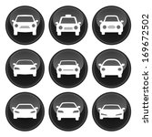 car icons black plastic button... | Shutterstock . vector #169672502