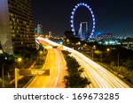 singapore city at night | Shutterstock . vector #169673285