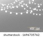 christmas lights isolated on... | Shutterstock .eps vector #1696735762