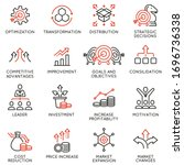 vector set of linear icons...   Shutterstock .eps vector #1696736338