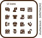 ui icon set. 16 filled ui icons....