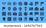 continent icon set. 32 filled...   Shutterstock .eps vector #1696767565