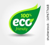 eco friendly label | Shutterstock .eps vector #169677668