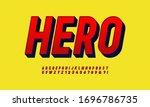 vintage superhero inspired 3d... | Shutterstock .eps vector #1696786735