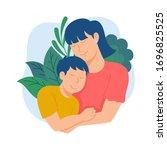 vector illustration of mother...   Shutterstock .eps vector #1696825525