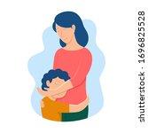 vector illustration of mother...   Shutterstock .eps vector #1696825528