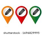 icon of pencil on white... | Shutterstock .eps vector #1696829995
