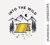 camping badge illustration... | Shutterstock .eps vector #1696832395