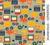 seamless pattern of movie... | Shutterstock .eps vector #169684052