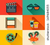 set of movie design elements... | Shutterstock .eps vector #169684055
