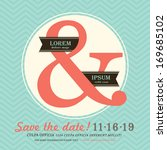modern ampersand wedding... | Shutterstock .eps vector #169685102