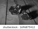 garnet  food copper cuprum brass nature morte still life loft light painting wb black and white photo
