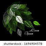 abstract background with green... | Shutterstock .eps vector #1696904578