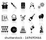 new year holiday icons set | Shutterstock .eps vector #169690466