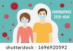 stop coronavirus poster... | Shutterstock . vector #1696920592
