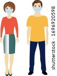 man and woman with medical... | Shutterstock .eps vector #1696920598