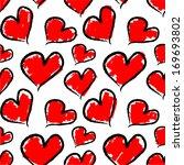 valentine hearts. seamless... | Shutterstock .eps vector #169693802