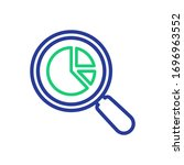 analytics vector icon.... | Shutterstock .eps vector #1696963552