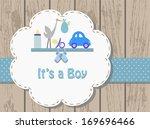 Baby Boy  Invitation Card