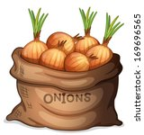 illustration of a sack of onion ...