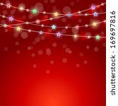 holiday background with star... | Shutterstock . vector #169697816