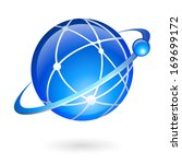 global connection and... | Shutterstock .eps vector #169699172