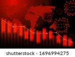 stocks fall. economic and...   Shutterstock .eps vector #1696994275
