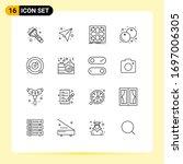 outline pack of 16 universal... | Shutterstock .eps vector #1697006305