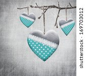 Valentine heart hanging on a...
