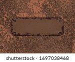 texture rusted metal ... | Shutterstock .eps vector #1697038468