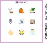pictogram set of 9 simple flat...
