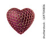 3d golden heart symbol with... | Shutterstock . vector #169704806