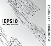eps10 vector circuit board... | Shutterstock .eps vector #169705475