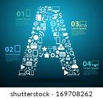 application icons alphabet... | Shutterstock .eps vector #169708262
