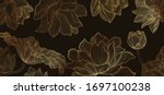 luxury lotus wallpaper design...   Shutterstock .eps vector #1697100238