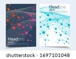 scientific brochure design... | Shutterstock .eps vector #1697101048