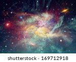 stars of a planet and galaxy in ... | Shutterstock . vector #169712918