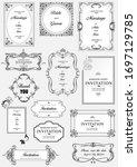 set of ornate vector frames and ... | Shutterstock .eps vector #1697129785
