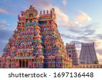 Colourful Temple Gopurams In...