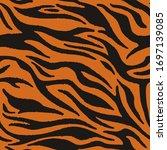 vector tiger fur  orange... | Shutterstock .eps vector #1697139085