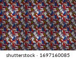 seamless background cakes.... | Shutterstock . vector #1697160085