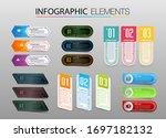 modern paper text box template  ... | Shutterstock .eps vector #1697182132
