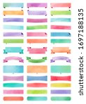 ribbons and tapes painted in... | Shutterstock . vector #1697188135