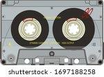 a transparent cassette with... | Shutterstock .eps vector #1697188258